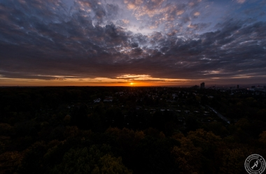 Goetheturm Frankfurt Sonnenuntergang
