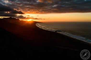 Sonnenuntergang am Mirador de los Canarios