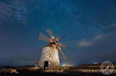 Molino de Tefia with stars