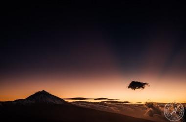 Pico del Teide nach Sonnenuntergang