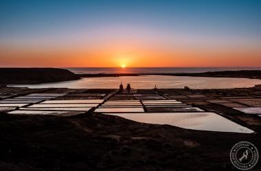 Sunset Salinas de Janubio Lanzarote