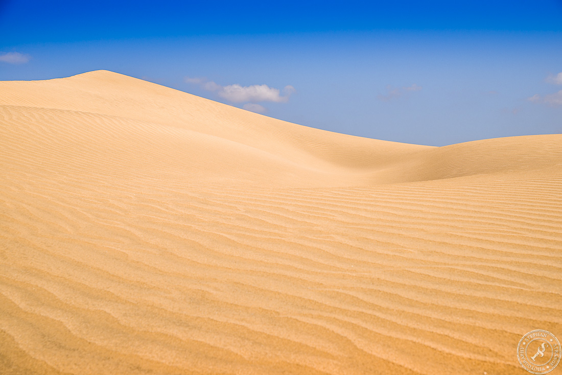 The shifting sand dunes of Maspalomas