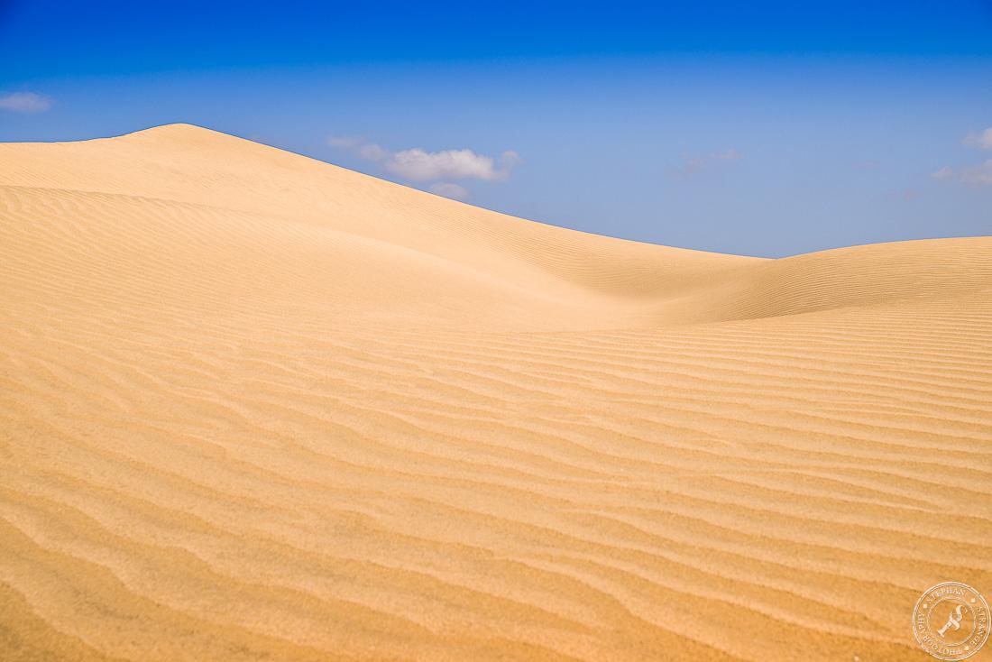The shifting sand dunes of Maspalomas