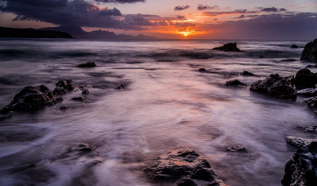 Sonnenuntergang in der Bucht von La Pared