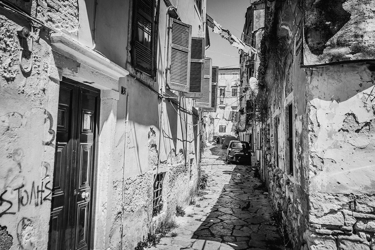 The small alleyways of Kerkyra // Die schmales Gassen von Kerkyra, Korfus Hauptstadt