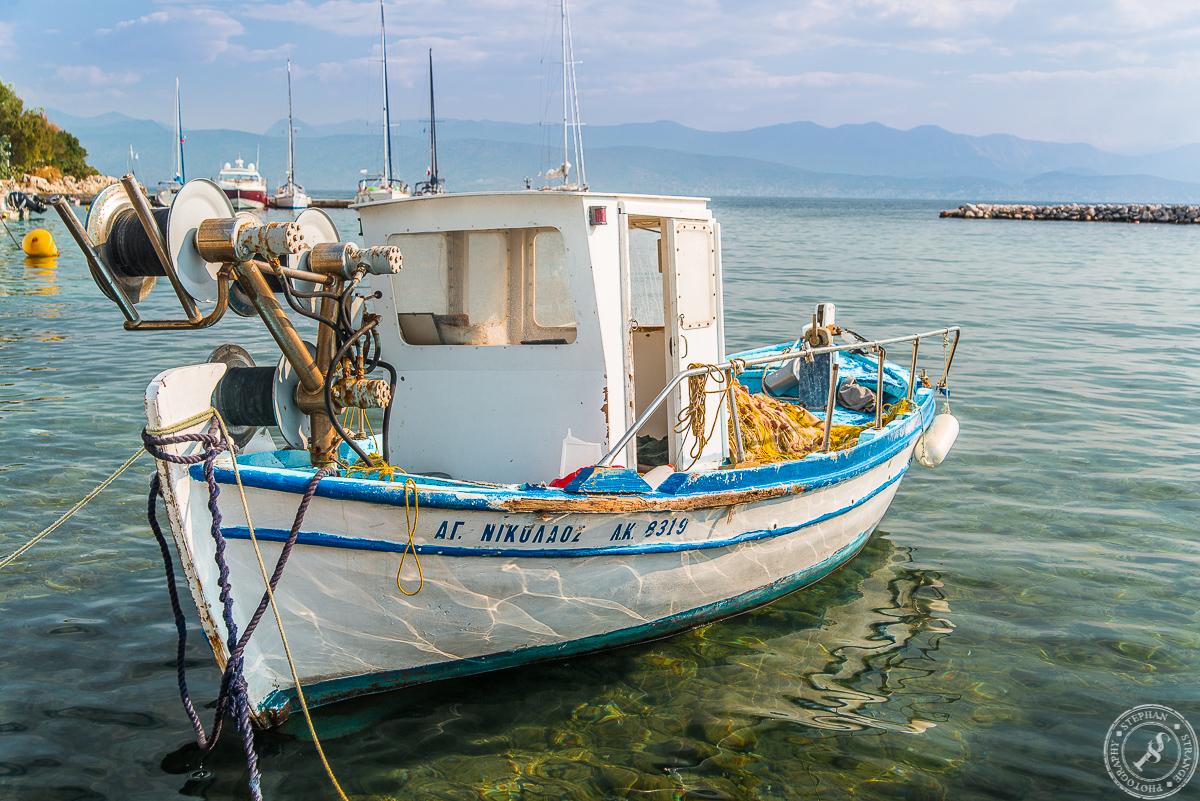 Der Hafen von Kassiopi