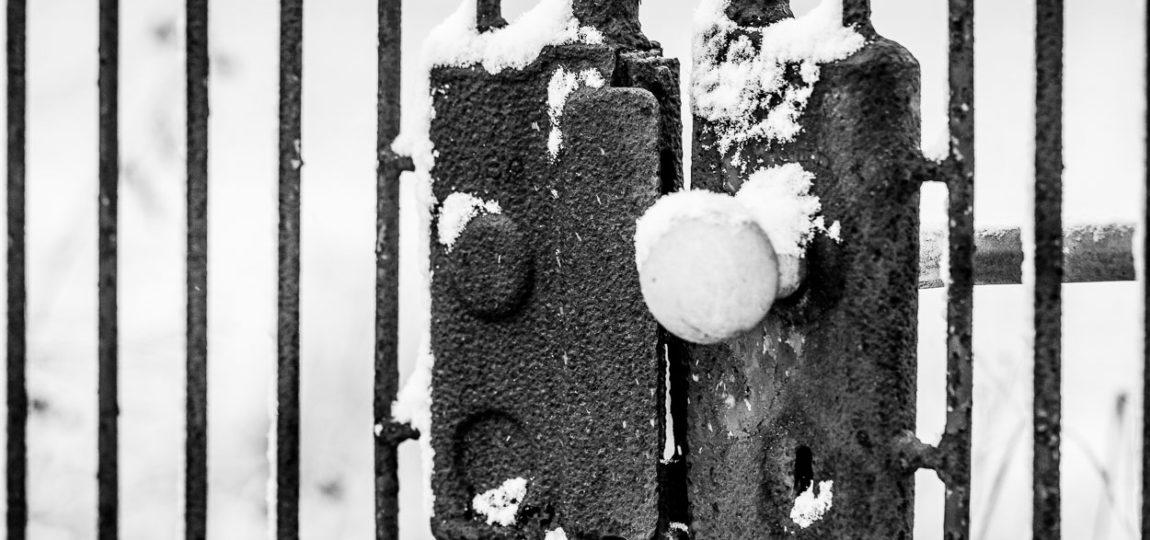 Der erste Schnee in diesem Jahr in Dreieich