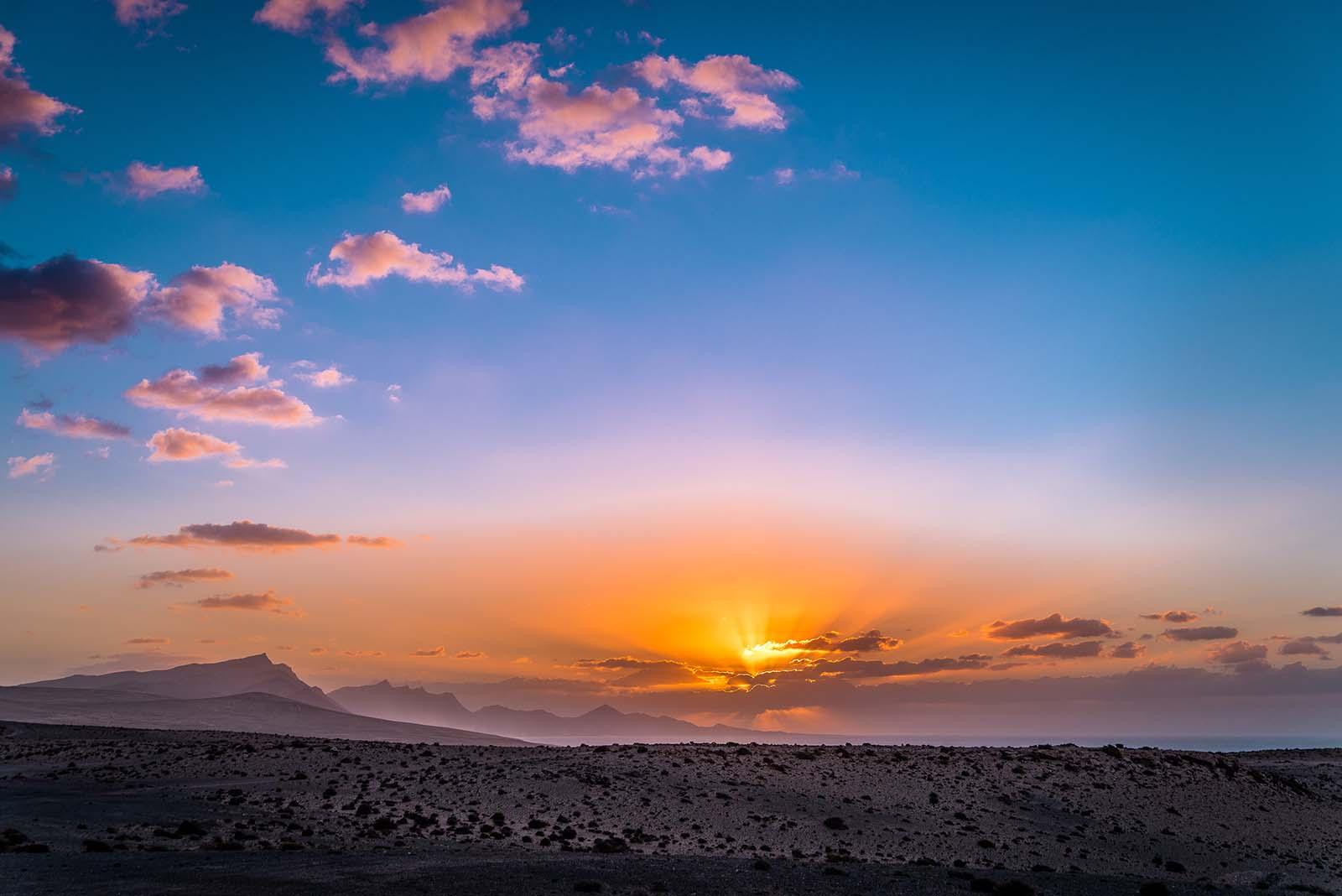 Jandia bei Sonnenuntergang